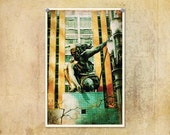 Portland Photography Portlandia Statue Colorful--Fine Art Distressed Lomography 8x12
