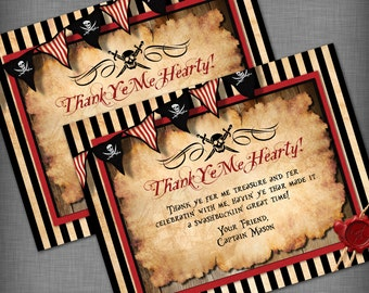 Pirate Theme Thank You Card