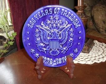 Bicentennial Decorative Plate