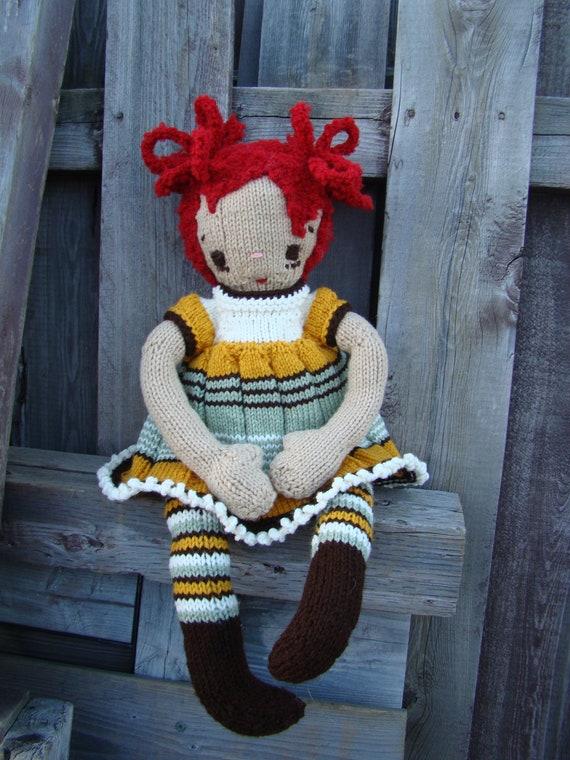 Pattern for Ameline Raggedy Lottie ragdoll doll