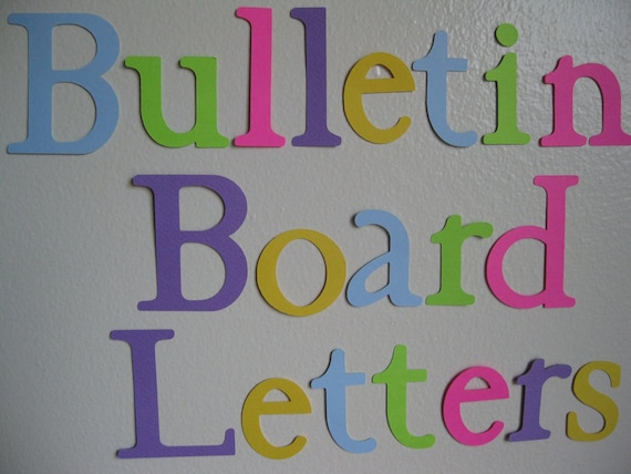 items similar to die cut letters bulletin board letters 30 40 letters on etsy. Black Bedroom Furniture Sets. Home Design Ideas