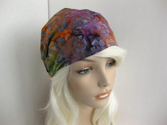 Rainbow Batik Fabric Headband Yoga Hippie Hair Head Wrap Women's Gypsy Bandana Hair Accessory