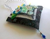 SALE Fabric pocket hanging room door home decor handmade