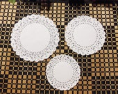 "25 Paper Lace Doilies, 4"", 5"" or 6"" Diameter (Your Choice), White"