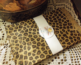 50 Leopard, Cheetah 6x9 Kraft Paper Gift Bags, Merchandise Bags, Favor Bags