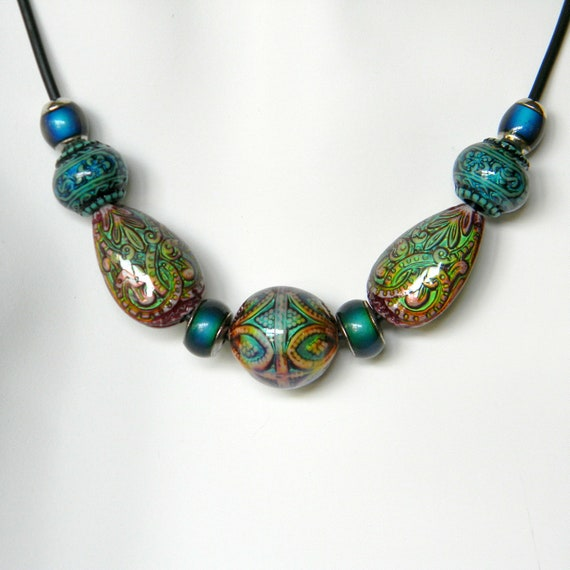 color changing mirage mood bead necklace gift