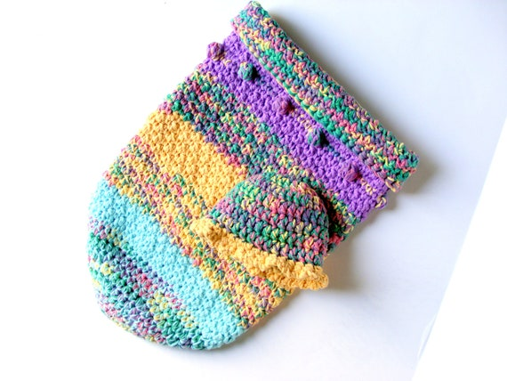 OOAK Crochet Baby Cocoon Sleeping Sack, with Sun Hat in Cotton, Set of 2 Reserved for Paige