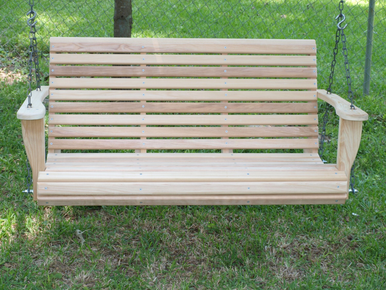 5 foot classic cypress porch swing by cypresswoodswings on