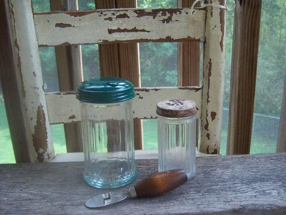 Sugartime...   Vintage Sugar Jars plus Mystery Tool