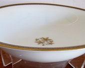 Noritake Goldston pattern vintage discontiued retired gold and blue geometric design soup bowl