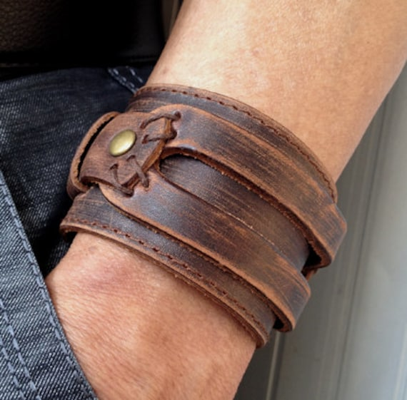 Men's Leather Bracelets: NOVICA, in association with National Geographic, presents men's leather bracelets at incredible prices from artisans around the world.
