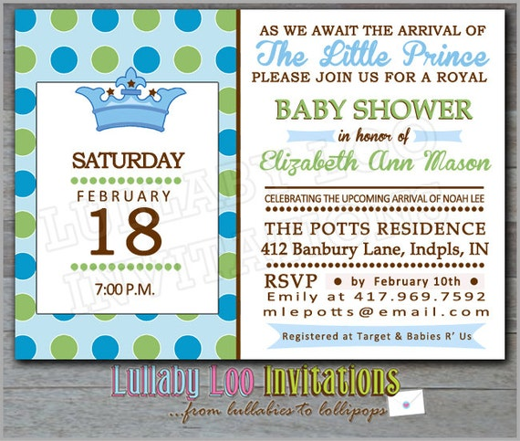 prince baby shower invitations 150 royal baby shower