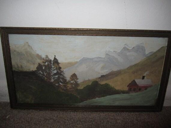 Delightful Vintage Original Oil Painting