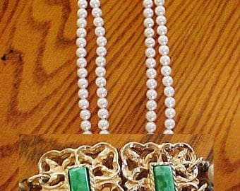 Vintage Sarah Coventry High Society Double Strand Necklace