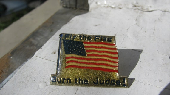 Fly the flag and burn the judge - Historical - Americana Pin