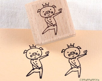 43% OFF SALE Cute pig Rubber Stamp