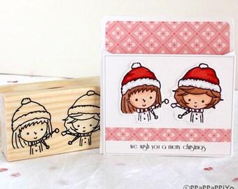 25 OFF SALE Big Stamp-You & Me merry christmas stamp