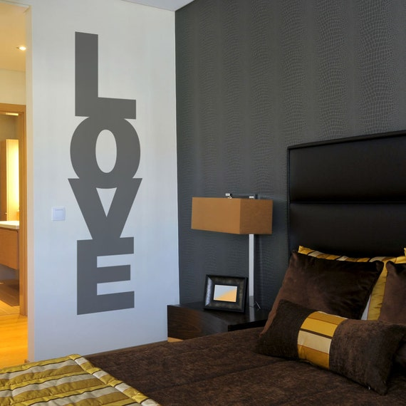 Stack of Love Wall Decal Sticker -Love Decal Sticker, Typography Decal, Love Quote Decal, Love Wall Sticker, Love Wall Letters, Stacked Love