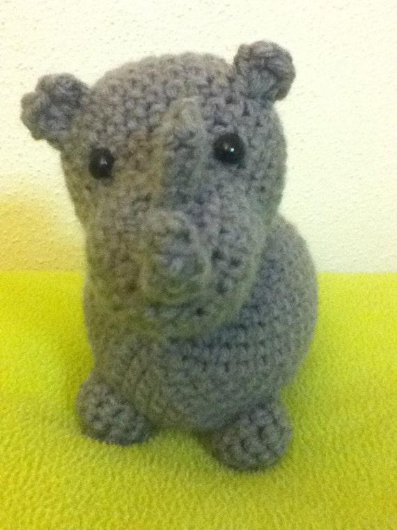 Crochet Star Wars Amigurumi Patterns : Crochet amigurumi rhino by TheCraftCornerShop on Etsy