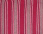 Christmas craft fabric / Red wide and narrow stripes, dark and dusty red / Westfalenstoffe / Patchwork quilting fat quarter