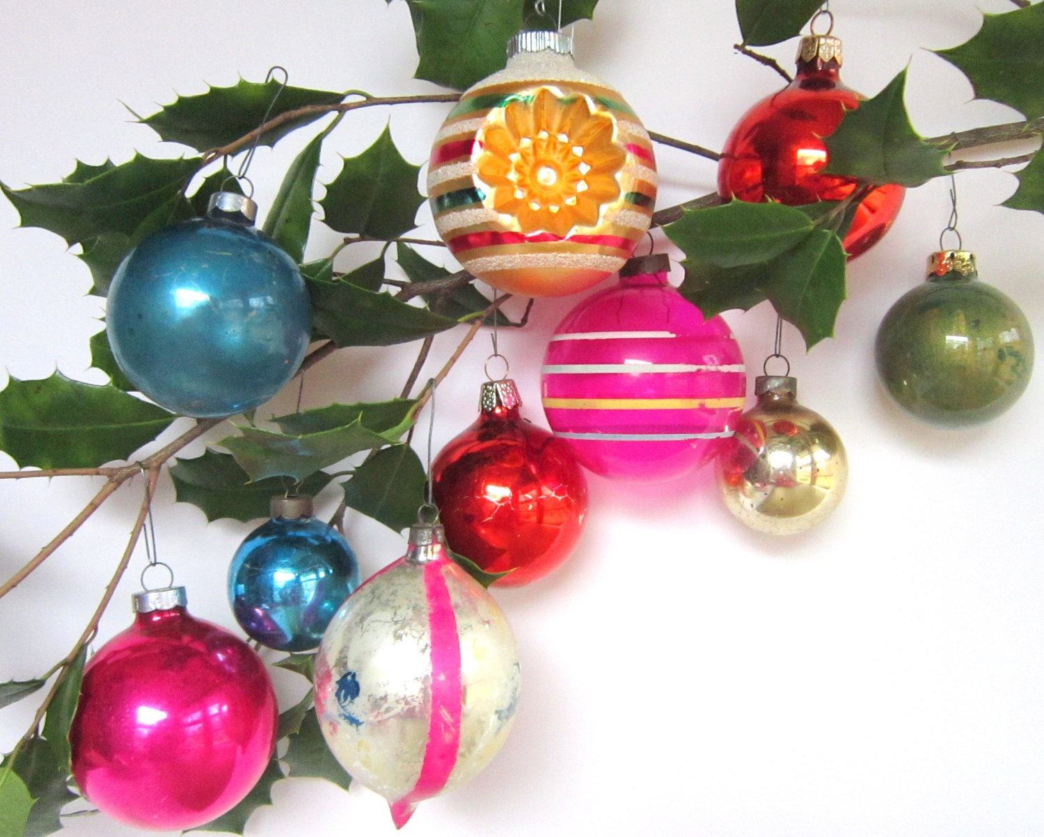 Sale shiny brite christmas ornaments vintage by for Christmas ornaments sale