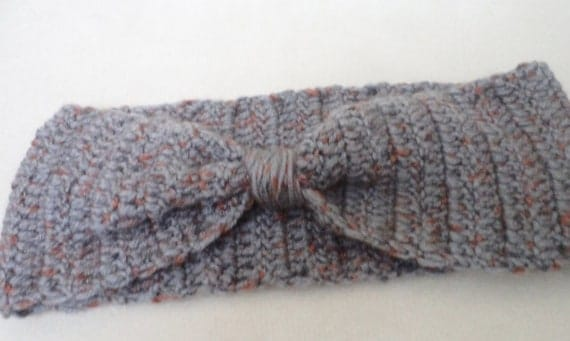 Headband, Hair Accessories,  Wool Grey Headband, Hand Crocheted Headband, Earwarmer, Women Accessories, Holiday gift