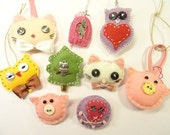 PDF Pattern - Ornaments - Only Patterns - Pdf 12 Felted Animals - Key Chain - Book Marks - DOWNLOAD IMMEDIATELY