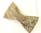 EYEGLASS Case - BOW Necklace Eyeglass - Gray Bow - Bow Holder - Fiocco - UNIQUE and Original Gift for Girlfriend Wife Mom -