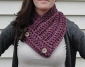 Crochet  Neck Warmer/Scarf in Fig