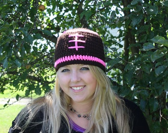 Womens Football Beanie/Ready to Ship