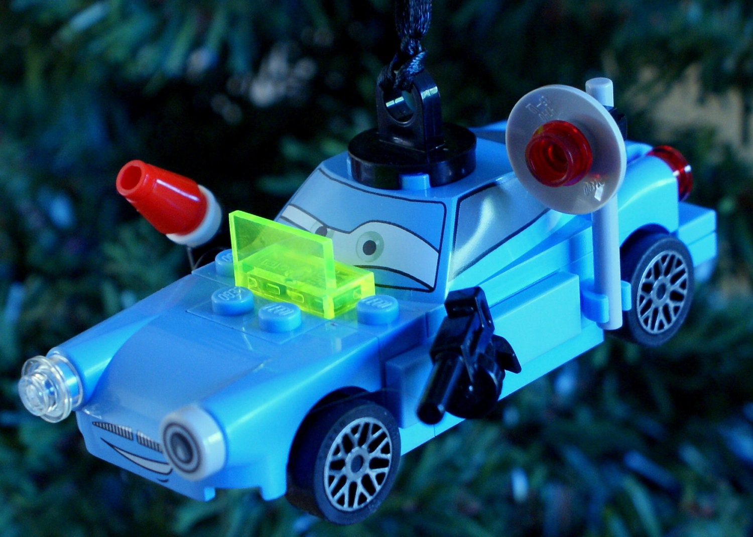 LEGO Disney Pixar Cars Finn McMissile Christmas Ornament