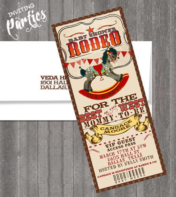 Baby Shower Cowboy Theme: Vintage Baby Cowboy Rodeo Themed Western Baby Shower Or