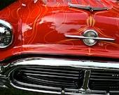 Fine Art Automotive Photography Red Car Vintage- Light My Fire 8x12