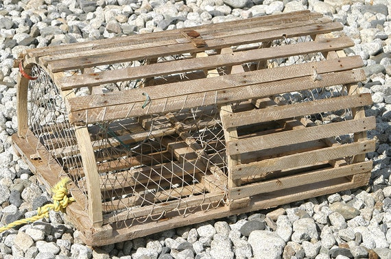 Antique rare Vintage Wooden very rare Maine Lobster Trap or