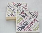 Coasters- DOG- set of 4