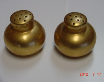 Vintage Gold Salt and Pepper Shakers