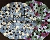 Dishcloth PATTERN # 7, Washcloth, Coaster, Doily, Hotpad, Crochet, INSTANT DOWNLOAD