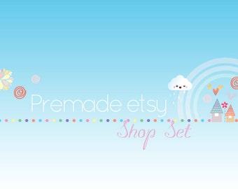 Premade Etsy Shop Image Set - Design 82 Rainbow Sprinkles