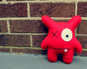 Peter - Red Felt Monster Soft Toy