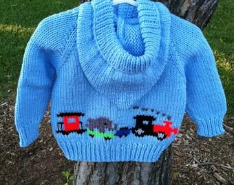 Knitting Pattern Train Sweater : Knit train sweater Etsy