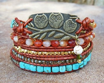 Three little birds Wrap bracelet