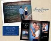 Wedding Invitation - Custom Modern Photo Wedding Invitation