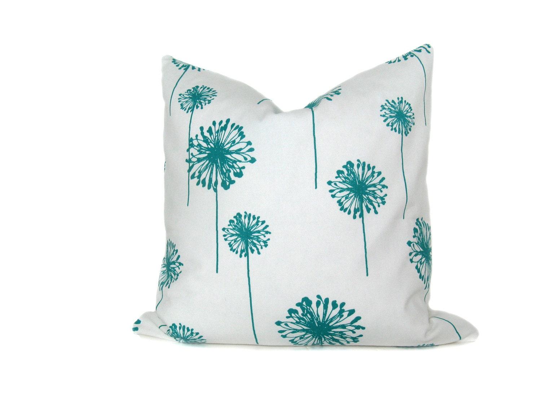 Turquoise Throw Pillows Covers : Euro Pillow Cover.Turquoise Pillow.Euro Pillow by EastAndNest