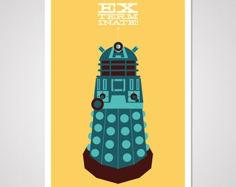 Exterminate - 12x18 Art Print