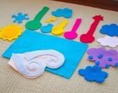 Montessori Felt Weather Flannel Board Set - Homeschool Preschool Science Lessons