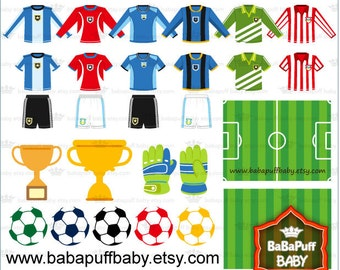Football Race Design Elements ---- Soccer Clip Art, Personal and Small Commercial Use ---- BB 0198