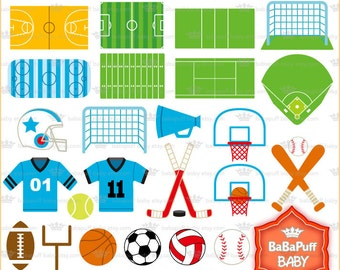 Sports Design Elements ---- Clip Art, Personal and Small Commercial Use ---- BB 0413