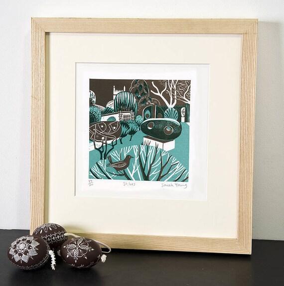 St Ives - Relief / Letterpress Print