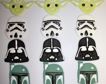 Fondant STAR WARS - Cupcake, and Cookie Toppers - 1.5 Dozen