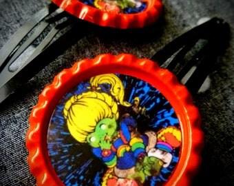 Rainbow Zombie hair clips